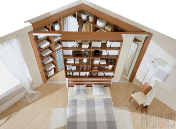 Угловая гардеробная в квартире