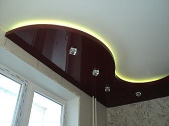 Пример натяжного ПВХ потолка