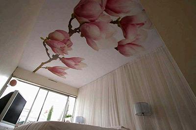 Пример дизайна тканевых потолков
