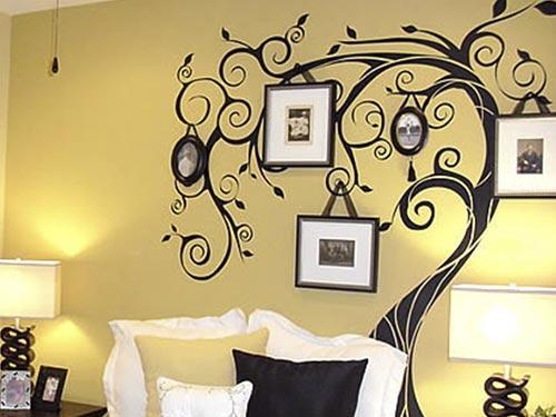 На фото декоративные наклейки для стен