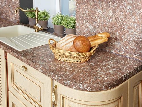 Фото кухонной ламинированной столешницы