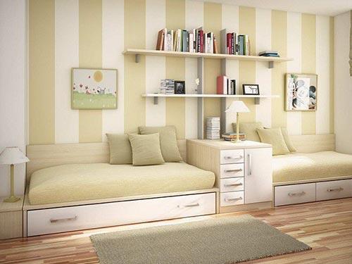 Светлые обои, как на фото увеличат визуально комнату