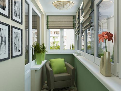 На фото дизайн маленьких балконов