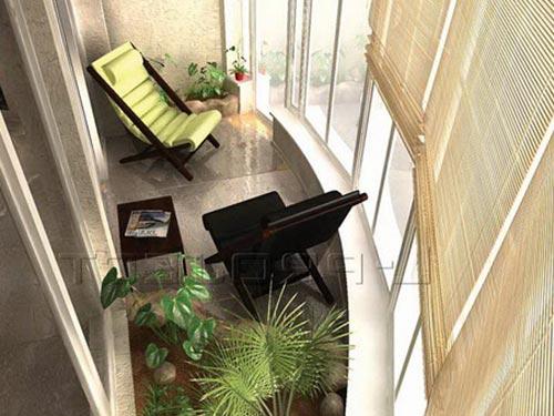 На фото панорамного балкона