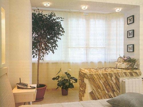 Присоединение балкона к комнате или кухне