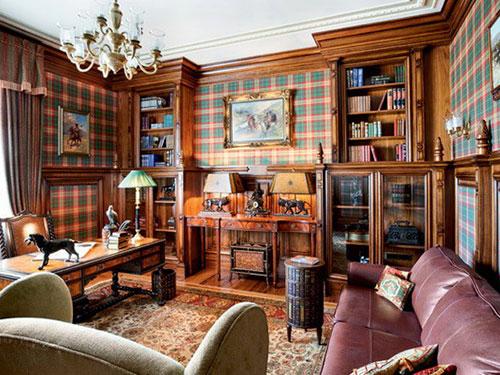 На фото английский стиль в интерьере квартиры