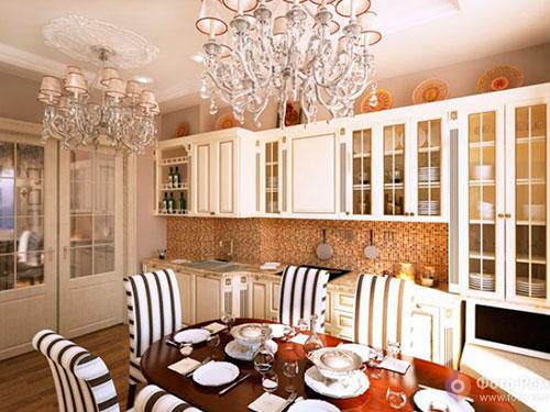 На фото кухня в английском стиле