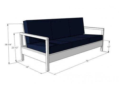 На фото каркас дивана