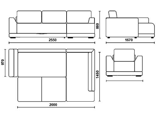 На фото чертежи дивана