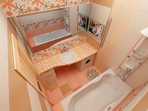На фото дизайн маленькой ванной комнаты