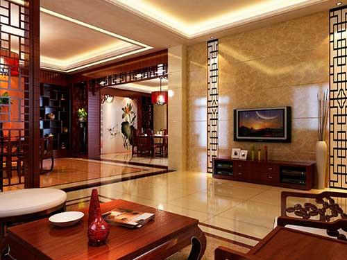 На фото комната в китайском стиле