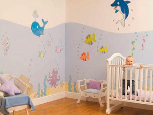 На фото детские обои для стен