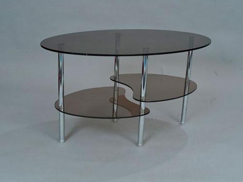 На фото стеклянный столик