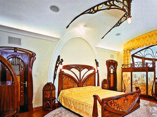 На фото спальня в стиле модерн