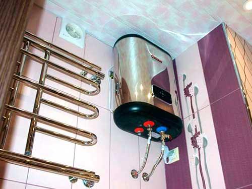 На фото подключение водонагревателя