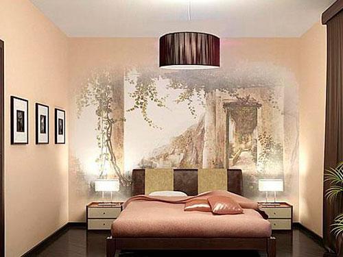 На фото спальня в японском стиле