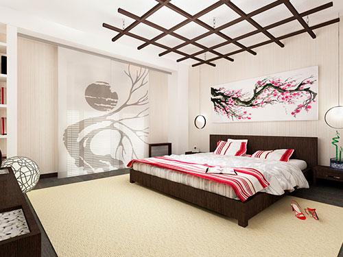 На фото японский стиль в интерьере