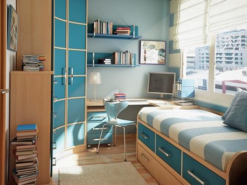 На фото дизайн подростковой комнаты