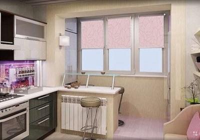 Дизайн кухни студии в хрущёвке