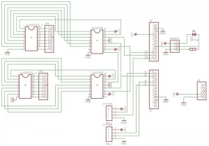 Схема подключения комплектующих Ардуино (нажмите для увеличения)