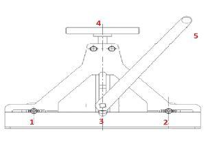 Трубогиб с верхним расположением прижимного ролика