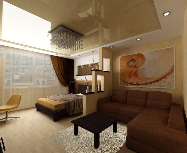 Спальня в пастельных тонах, в которой всё стоит на своём месте