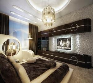 Вариант современного дизайна для спальни