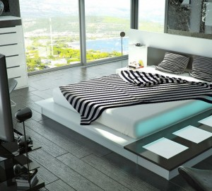 Модная спальня в стиле хай-тек