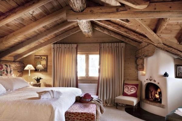 Пример дизайна второго этажа уютного домика шале