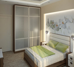 Пример расстановки мебели в небольшой спальне