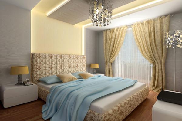 Вариант цветового решения в спальне