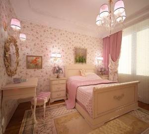 Дизайн спальни в розовом цвете и его оттенках