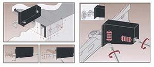 Пример крепления полок в угловом шкафу
