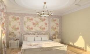 Дизайн интерьера кантри-спальни с элементами стиля Прованс
