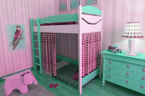 Кровать-чердак - отличное место для игр и полноценного отдыха