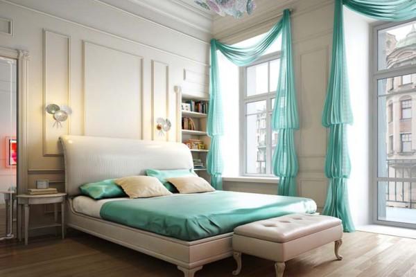 Шторы эксклюзивного пошива способны преобразить общий вид любой спальни