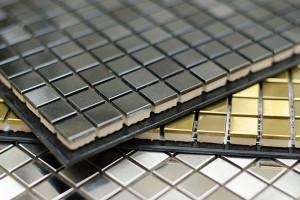 Металлическая плитка-мозаика