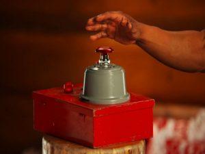 Нажатие красной кнопки