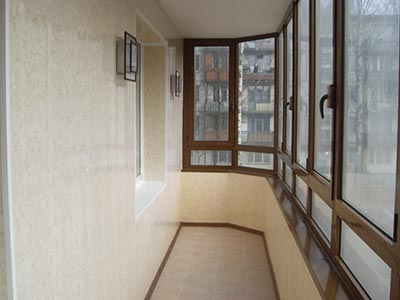 Обшить балкон изнутри