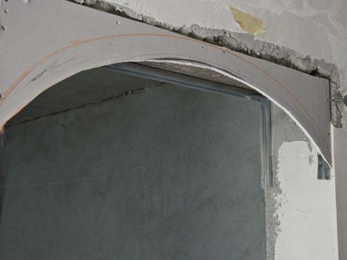 Пример на фото как сделать арку
