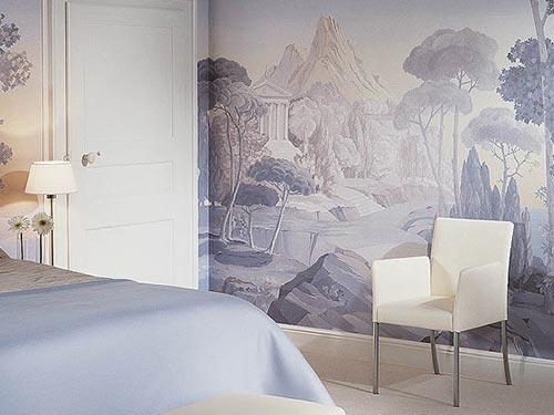 На фото виды обоев для стен в спальне
