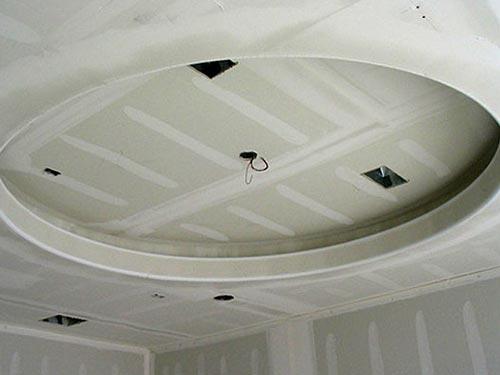 На фото гипсокартонный потолок своими руками