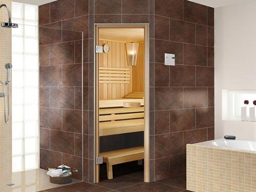 На фото финская сауна для квартиры