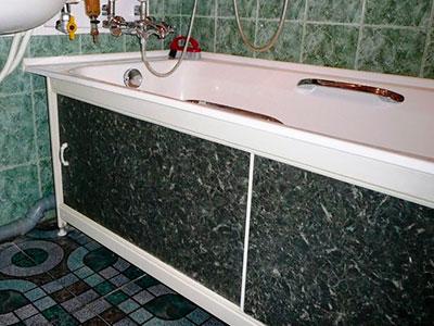 Как сделать экран под ванну своими руками — пошаговое видео и фото