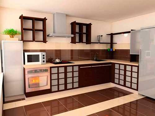На фото кухня в китайском стиле