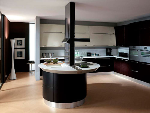 На фото кухня в стиле хай тек