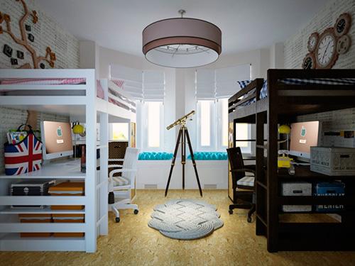 На фото комната для подростка мальчика