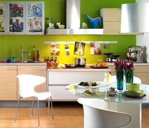 яркие акценты в интерьере замечательно украсят Вашу кухню
