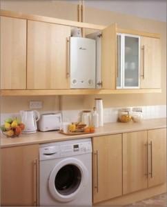 основные правила дизайна кухни с газовой колонкой
