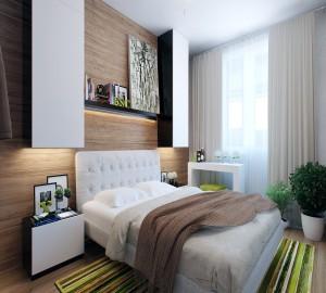 Функциональный интерьер спальни в 12 кв. метров